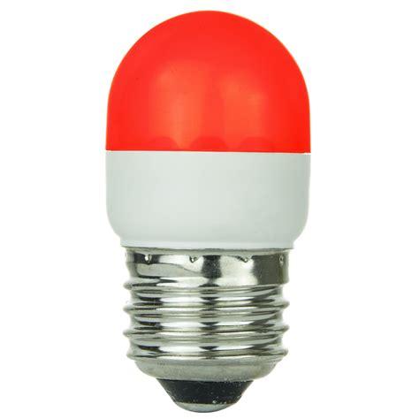 Sunlite Red Led 0 5w Tubular T10 Medium Screw In Base Led Tubular Light Bulbs