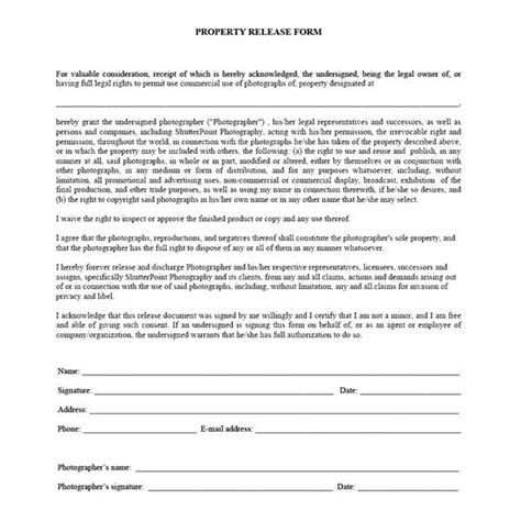 Which Photography Release Forms Do You Need Photography Agreement Form Template