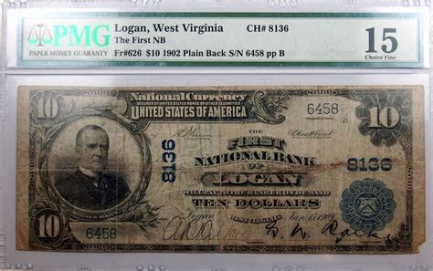 large size national bank note logan west