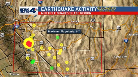 earthquake reno 5 7 magnitude earthquakes hit outside hawthorne nevada krnv