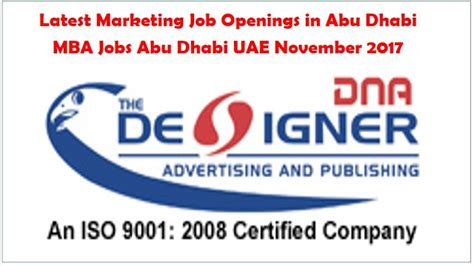 In Gulf Countries For Mba Marketing by Marketing In Abu Dhabi November 2017 Mba