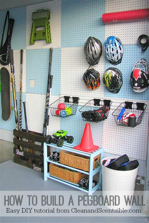 Garage Storage Pegboard How To Organize The Garage July Hod Clean And Scentsible