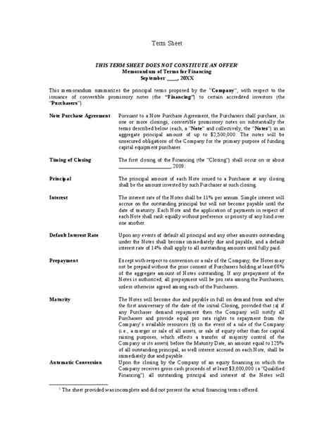 convertible note agreement template best resumes
