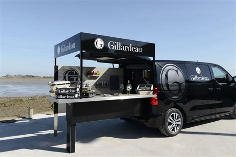 food truck outside design gillardeau foodtruck transport peugeot design lab