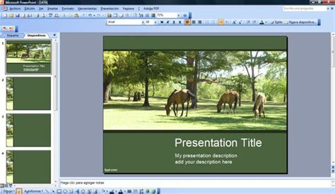 powerpoint templates free download horse free horses powerpoint template