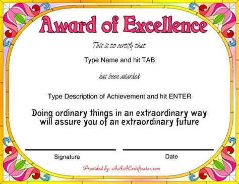 awards certificates templates for word masir
