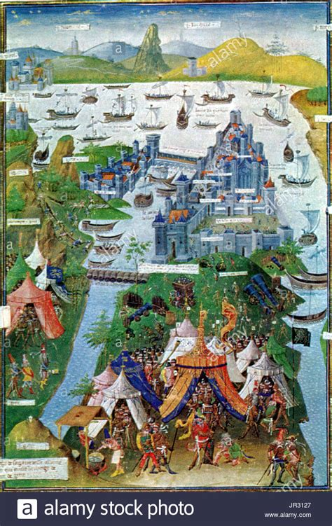 Byzantine Ottoman Wars Siege Constantinople Stock Photos Siege Constantinople