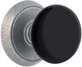 emtek black wrought steel door knob shop door