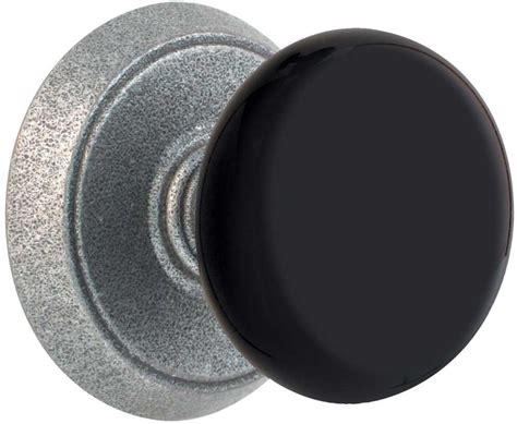 Door Knobs Black by Emtek Black Wrought Steel Door Knob Shop Door