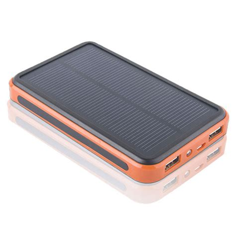 Power Bank Solar 10000mah 10000mah solar charger power bank led light bag for iphone free shipping dealextreme
