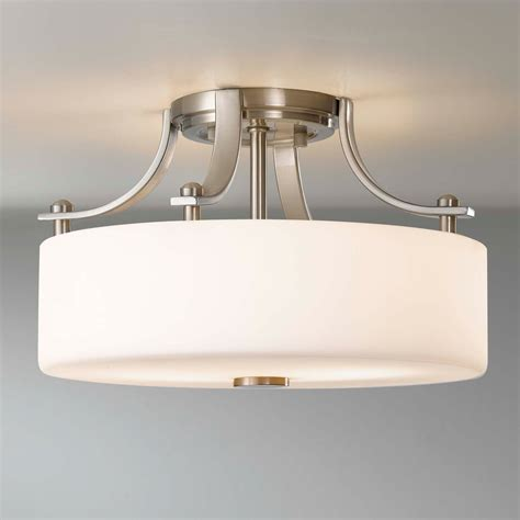 flush mount semi flush light fixtures murray feiss sf259bs sunset drive semi flush ceiling fixture