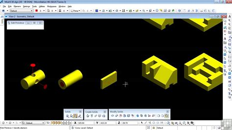 tutorial edit vscom bentley microstation v8i 3d tutorial chamfer edges and
