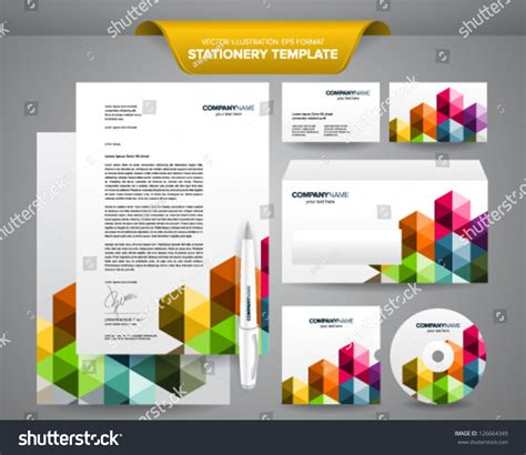 business card letterhead envelope template complete set business stationery template such stock