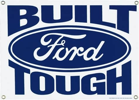 Ford Mustang Home Decor by Built Ford Tough Porcelain Sign Ande Rooney Signs