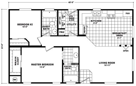 chion manufactured homes floor plans bentley 24 x 40 946 sqft mobile home factory select homes