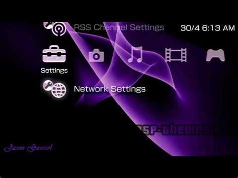 psp themes not showing up psp theme purple haze 2 psp themes net youtube