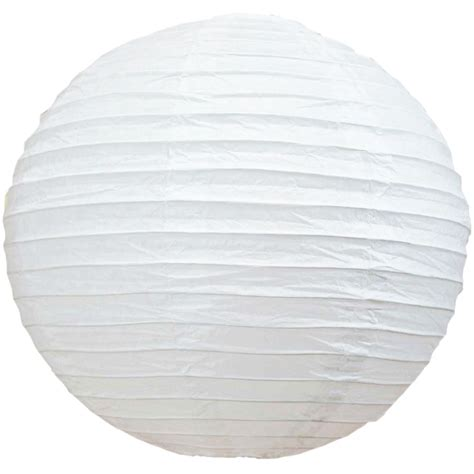 Paper Lanterns - 10 quot white paper lantern even ribbing hanging light