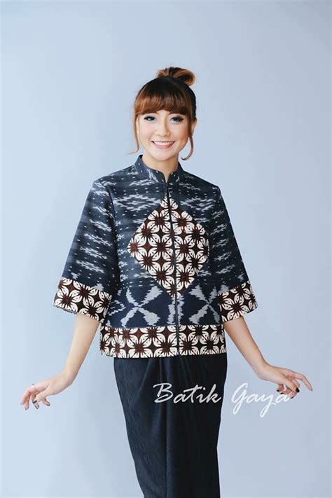 Blouse Atasan Top Valonia 88 best images about blus batik on javanese batik blazer and cool patterns