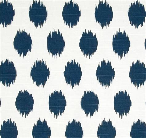 Designer Fabrics For Home Decor by Ikat Dots Navy Blue Designer Home Decor Fabric By The Yard
