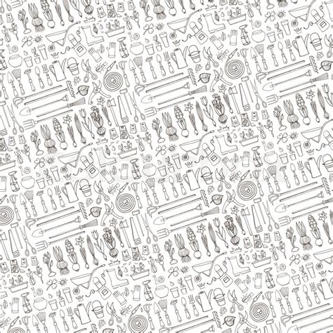pattern background sketch spring garden pattern backdrop linear background hand