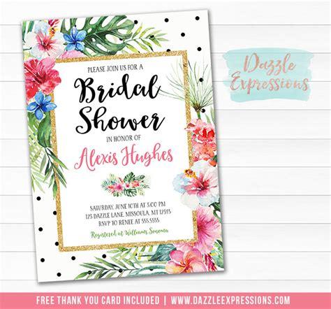 luau wedding shower invitations printable luau bridal shower invitation tropical flowers