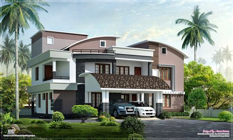 home style modern style luxury villa exterior design home kerala plans