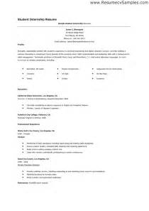 Resume Templates For College Students For Internships by Cv Template Student Internship Http Webdesign14