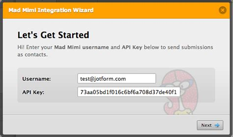 Search By Email Address Api Integration With Mad Mimi Email Newsletter Service Jotform