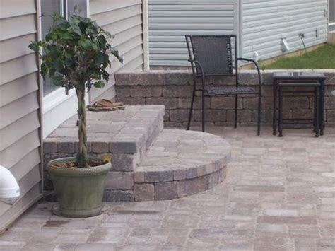 Paver Patio Steps Patio Steps Backyard Pinterest Design Patio Design And Porches