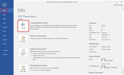 how to open word documents without compatibility mode in