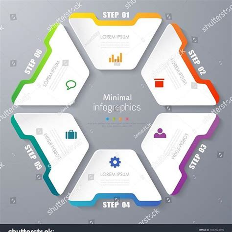 Chart 4 3 Business Template Infographic Minimal Vector Ai Photoshop Powerpoint Tag Illustrator Flowchart Template