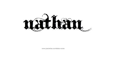 nathan tattoo designs nathan name designs