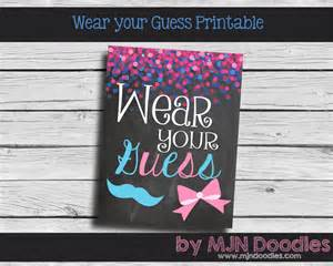 gender reveal wear your guess printable little man by