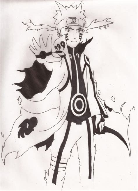 Naruto Bijuu mode (nine tails) by SebaMonto on DeviantArt