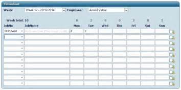 time sheets job management software system