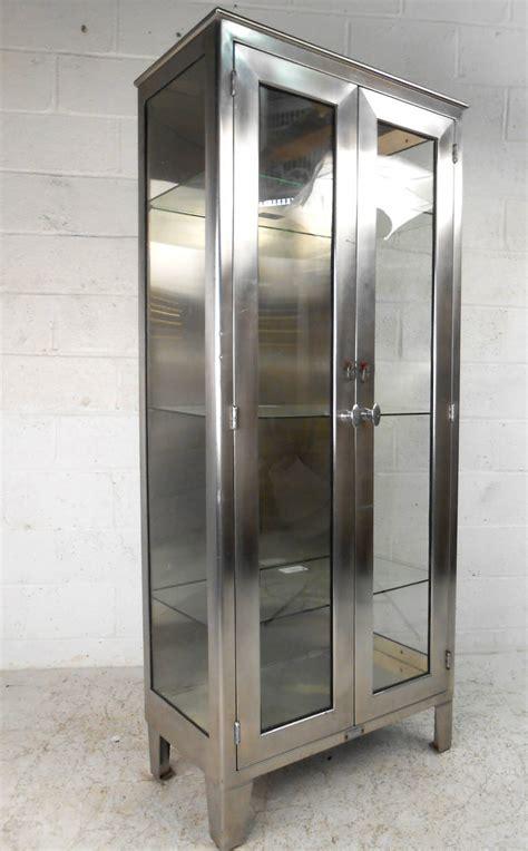 industrial style display cabinet vintage industrial metal display cabinet at 1stdibs