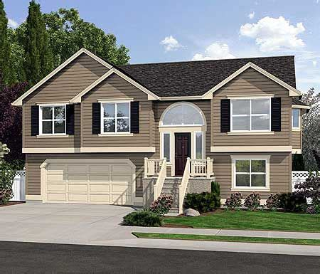split level homes spacious split level home plan siding