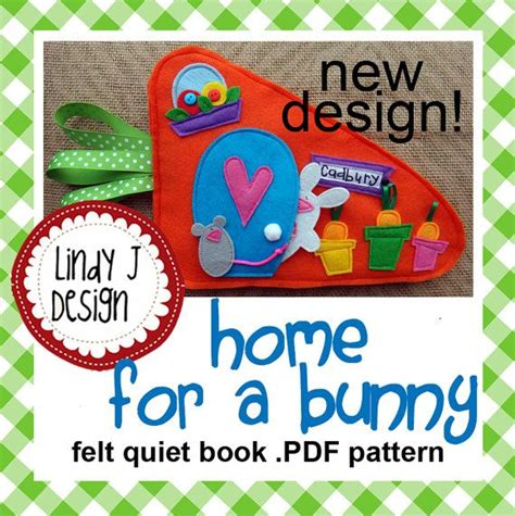 quiet book pattern pdf home for a bunny quiet book pdf pattern a bunny