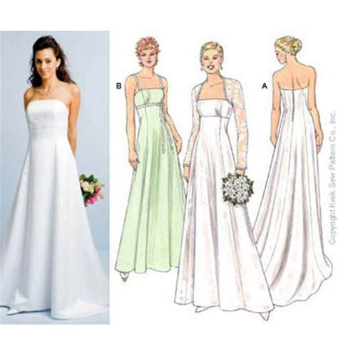 simple gown pattern gowns kwik sew k3400 wedding dresses pinterest