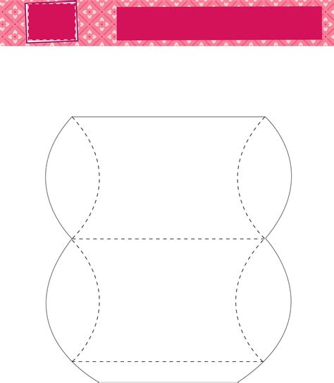 pillow templates pillow box template free
