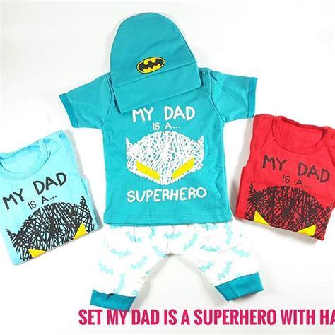 termurah stelan bayi baju bayi 3in1 topi bayi celana