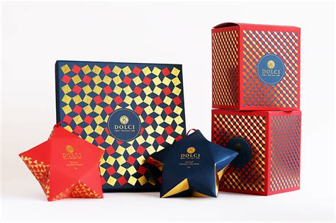 Wrapping Food Gifts - 2 3 dolci christmas collection the dieline packaging amp branding design amp innovation news