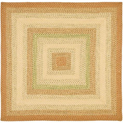 4 foot square rug safavieh braided rust multi 4 ft x 4 ft square area rug brd303a 4sq the home depot