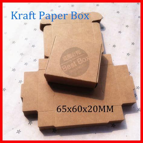 Handmade Paper Visiting Cards - 65x60x20mm brown kraft paper collection box handmade diy