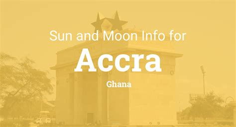 sun moon times today accra ghana