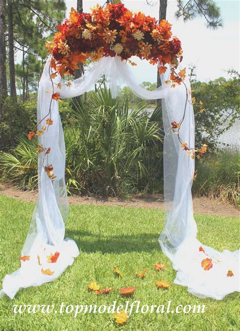 wedding arches   Fall Wedding Arch & Decorating Ideas
