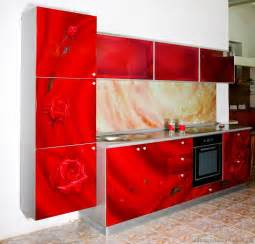Red Kitchen Cabinets by Pictures Of Kitchens Modern Red Kitchen Cabinets