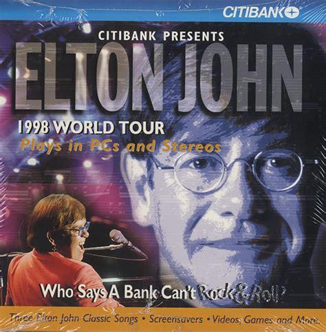 elton john world tour elton john 1998 world tour citibank presents us promo cd