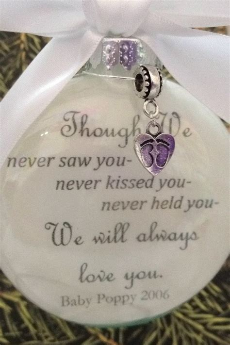 memorial gift christmas ornament quot though we never saw you