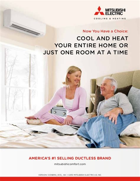 comfort one heating and cooling mitsubishi ductless home heating and cooling system